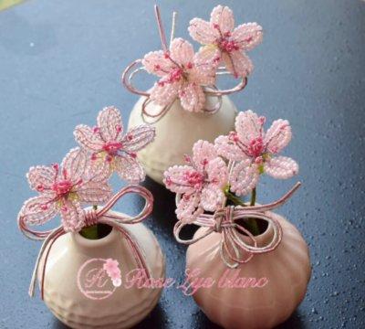 ビーズフラワー教室 桜と水引
